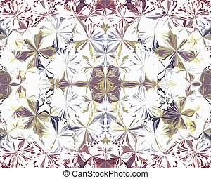 Symmetric grunge striped and stained seamless pattern in pastel colors