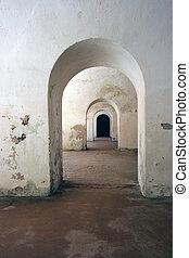 Symmetrical Archways - Several symmetrical old archways
