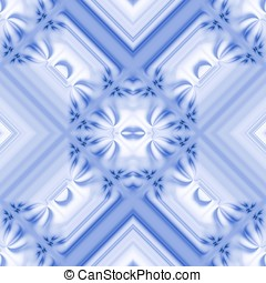 Symmetrical Blue Abstract