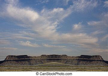 Symmetrical desert plateau