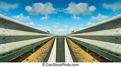 symmetrical guardrail seen from the floor