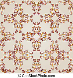 Symmetrical patterns - Light brown symmetrical patterns on...