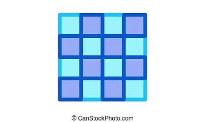 symmetrical tile surface Icon Animation. color symmetrical tile surface animated icon on white background