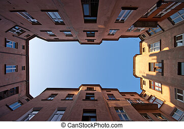 Symmetrical view on the old block