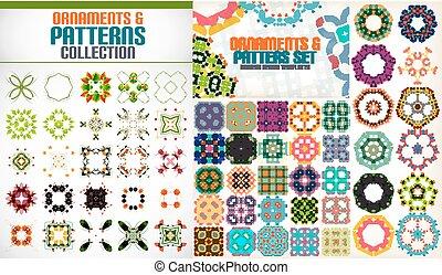 symmetriskt, form, sätta, geometrisk, färgrik