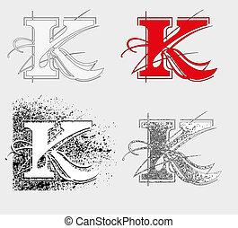 symol K - dekorative symbol K, vector illustration EPS10,...