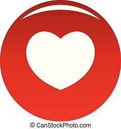 Sympathetic heart icon. Simple illustration of sympathetic heart vector icon for any design red