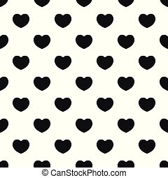 Sympathetic heart pattern seamless vector repeat geometric for any web design
