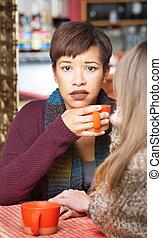 Sympathetic Woman with Friend