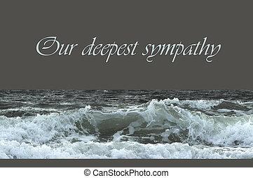 Sympathy - Condolence card