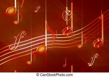 symphonie, son, mélodie