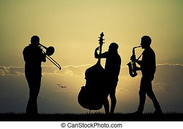 symphony Orchestra at sunset