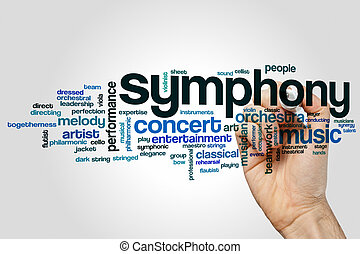 Symphony word cloud