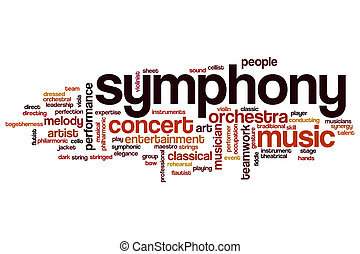 Symphony word cloud concept