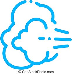 symptomp, gaz, pregancy, vetorial, ícone, windiness