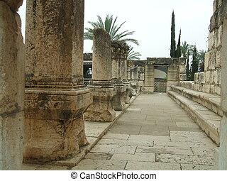 synagogue, イスラエル, capernaum