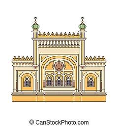 Synagogue architecture building cartoon sketch vector ...