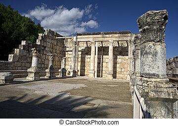 synagogue Capernaum - the ancient synagogue at Capernaum...