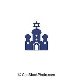 synagogue icon, vector art, eps 10 file, easy to edit