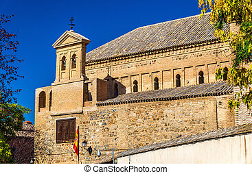 Synagogue of El Transito in Toledo, Spain. Now it is a...