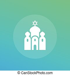 synagogue vector icon, eps 10 file, easy to edit