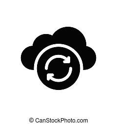 sync  glyph flat icon