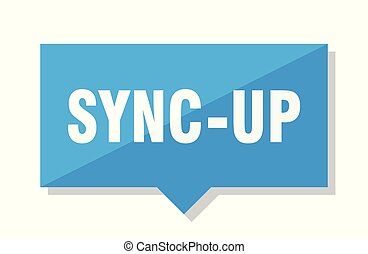 sync-up blue square price tag