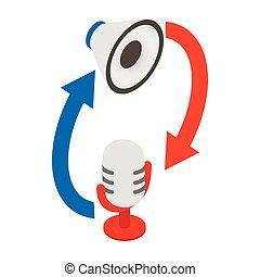 Synchronic translation service icon
