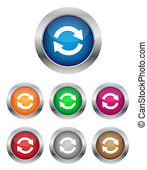 Synchronization buttons in various colors