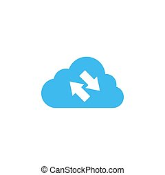 Synchronization cloud icon design template isolated illustration