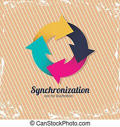 Synchronization - Illustration of icon refresh or reload,...