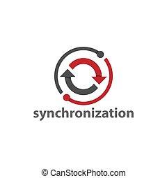 Synchronization web element vector design image