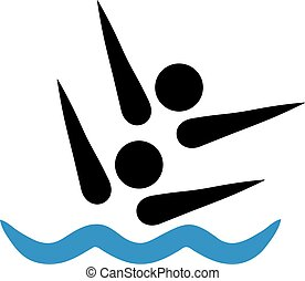 Synchronized swimmer pictogram