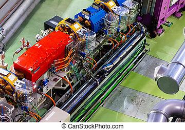 synchrotron, gaspedaal, tunnel, gebouw
