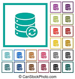 Syncronize database flat color icons with quadrant frames