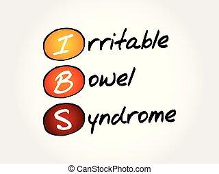 syndrome, acronyme, intestin, -, irritable, ibs