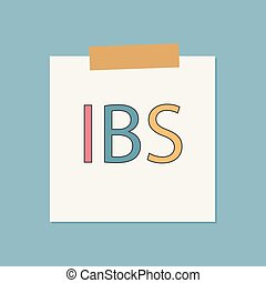 syndrome), (inflammatory, cahier, écrit, papier, ibs, ...
