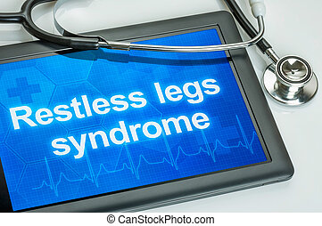 syndrome, tablette, diagnostic, jambes, exposer, agité