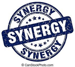 synergy blue grunge stamp