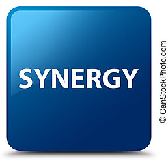Synergy blue square button