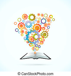 Synergy Book - Synergy book vector concept illustration