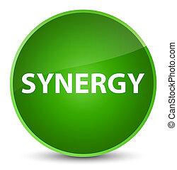 Synergy elegant green round button