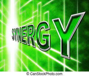 Synergy Energy Shows Work Together And Collaboration