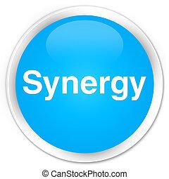 Synergy premium cyan blue round button