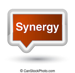 Synergy prime brown banner button