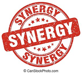 synergy red grunge stamp