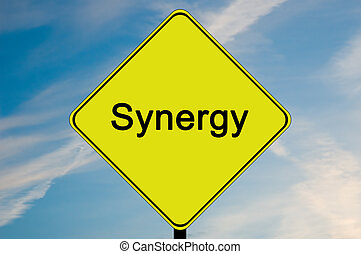 Synergy road sign