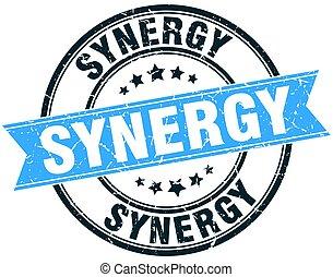 synergy round grunge ribbon stamp