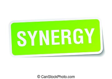 synergy square sticker on white
