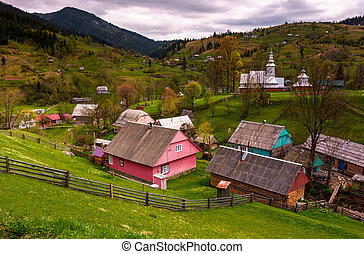 Synevyrs'ka Poliana village in Carpathians. lovely rural...